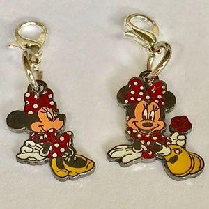 Disney Minnie Mouse Charm Charms Disneyana Clip On